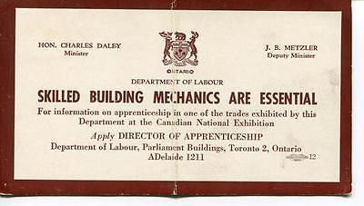 Ink Blotter Skilled Building Mechanics Are Essential Department Labour Toronto