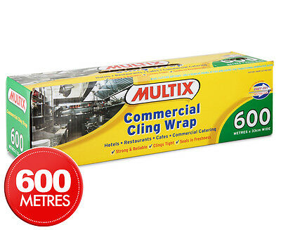 Multix Commercial Cling Wrap 600m x 33cm