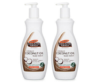 2 x Palmer's Cocoa Butter Formula Coconut Oil Body Lotion 400mL