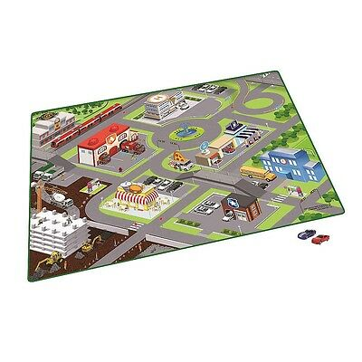 Fast Lane - Playmat with 2 Cars