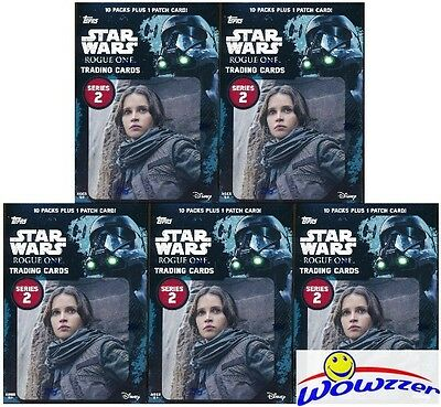 (5) 2017 Topps Star Wars Rogue One Series 2 EXCLUSIVE Sealed Blaster Box-5 PATCH