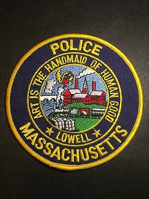 Lowell Massachusetts Police  Shoulder  Patch