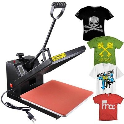 15x15 Digital Heat Press Machine T-shirt Transfer LCD Timer Counter Sublimation