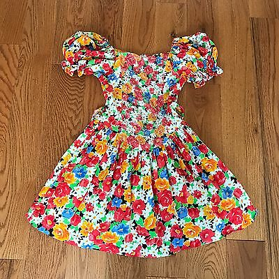 AMY TOO Byer California Girl's Vintage Floral Party Dress Size 14