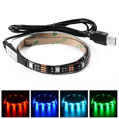 Multi-color RGB 5050 SMD LED Strip Light TV Background Lamp with USB Cable LD794