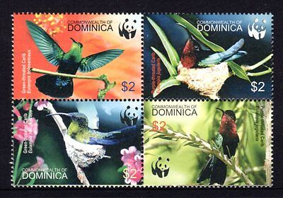 Dominica 2006 Hummingbirds Block 4 MNH