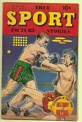 True Sport Picture Stories  V5 #2  July 1949  History Of Boxing