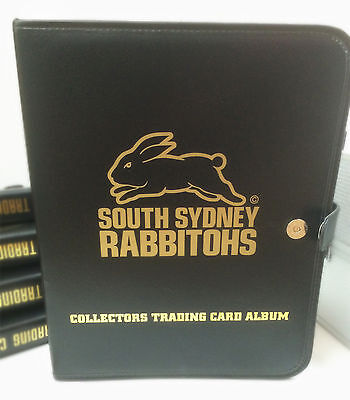 NRL CLUB Collectors Trading Card 3-Ring Album (10 pages)-SOUTH SYDNEY RABBITOHS
