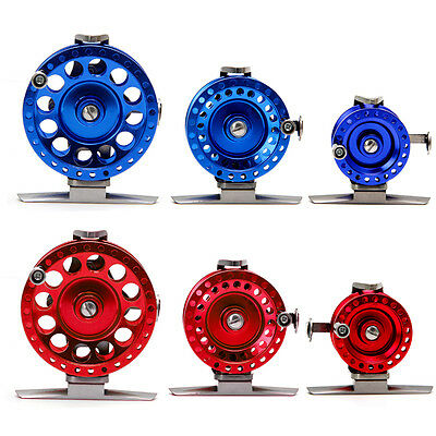 Fly Ice Fishing Reels Fish Line Wheel All Metal With Drag 40-60 Left Hand Reels