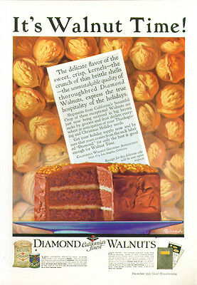 It's Walnut Time! Diamond Walnuts ad 1925