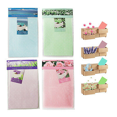 4 x LUXURY SCENTED DRAWER LINERS SHEETS PERFUMED FLORAL FLOWER FRAGRANCED DRAW