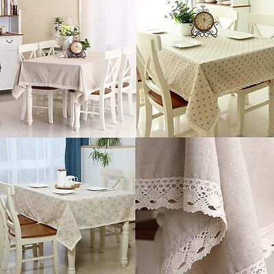 European Style Wipe Clean Tablecloth Many Designs Colors Table Cover For Kitchen