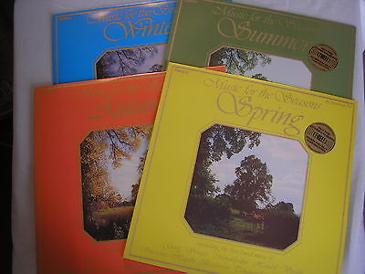 MUSIC FOR THE SEASONS 4 x LP's assorted classical pieces ex+/ex+