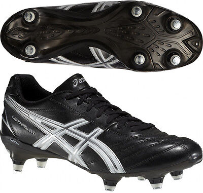 Asics Lethal ST Mens Soft Ground Rugby Boots - Black