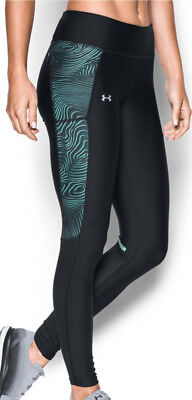 Under Armour Fly By Printed Ladies Long Running Tights - Black