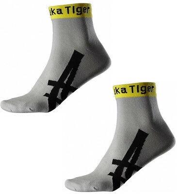 Asics Onitsuka Tiger Ped 2 Pair Pack Running Socks - Grey