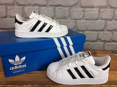 Adidas Originals Superstar Childrens Infant Trainers In White / Black