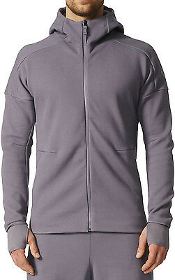 adidas Z.N.E. Full Zip Mens Training Hoody - Grey