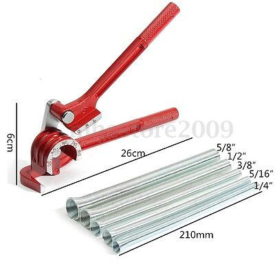 3in1 180° Tube Bender with 5pcs Spring Bending Pipe for Plumbing Copper Aluminum