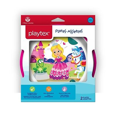 Playtex - Comfort Mealtime Plates 2-Pack - Pink, Styles May Vary