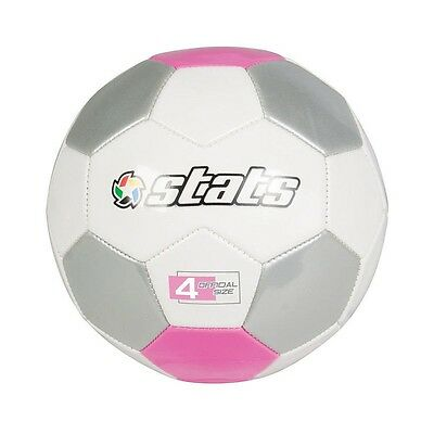 Stats - Pro Soccer Ball Size 4 - White, Pink & Silver