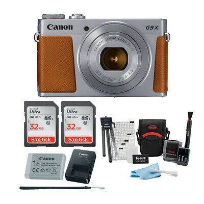 Canon Powershot G9 X Mark II Digital Camera (Silver) with 64GB Card and Bundle