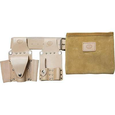 Steel Erectors Tool Belt Set - 4pc - Tan Leather