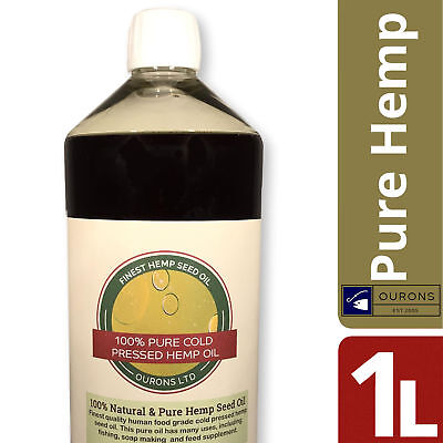 1 Litre Organic Hemp Seed Oil for Fishing 100% Pure Cold Pressed Finest Quality
