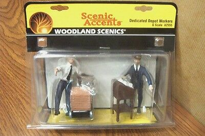 Woodland Scenics Dedicated Depot Workers  G Scale Figures