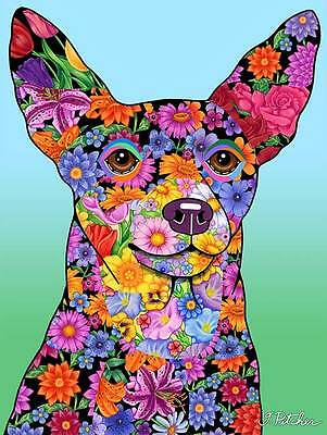 Large Indoor/Outdoor Flowers (TP) Flag - Miniature Pinscher 96222