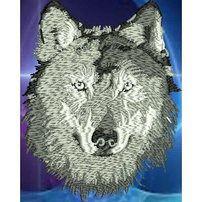 Embroidered Short-Sleeved T-Shirt - Wolf PE04 Sizes S - XXL
