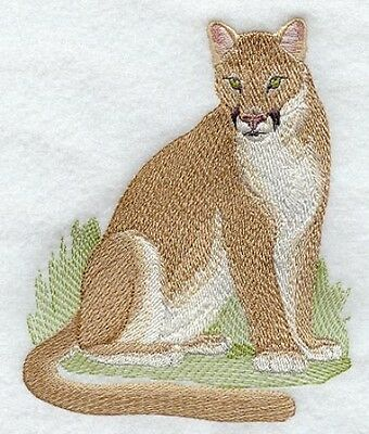 Embroidered Short-Sleeved T-Shirt - Cougar Mountain Lion M2125 Sizes S - XXL