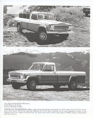 1972 Jeep Truck ORIGINAL Factory Photo oub4409