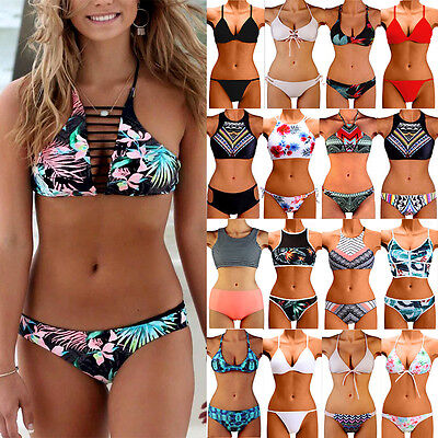 ❉❉❉ Swimwear Women Padded Bandage Swimsuit Beachwear Bathing Push-up Bikini Set