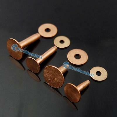 Solid Copper Rivets & Burrs Leathercraft Fasteners Gauge Horse Tack 9mm 12mm BBB