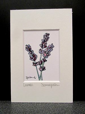 Lavender.  Mini Art print from an original painting by Suzanne Patterson.