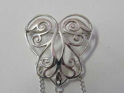 Openwork Heart Sterling Silver Chatelaine Pin - New (Last Ones!!)