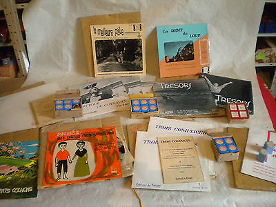 collection of 35mm film strips + 10 inch lps french schools 1950/60s berger