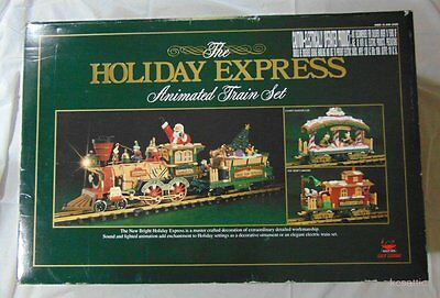 New Bright Holiday Express Animated Train Set #380 1996 Limited Edition Scale