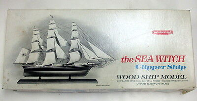 "The Sea Witch Clipper Ship, Kit #171, 27 1/4"" Long, Very Nice, Complete In Box"