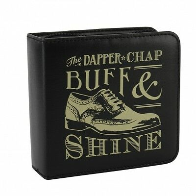 The Dapper Chap Buff and Shine Shoe Cleaning Kit. 8 Piece set. Gift. Home