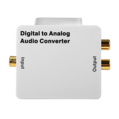Digital Coaxial Toslink SPDIF to Analog Audio Converter Adapter 3.5mm RCA AH313