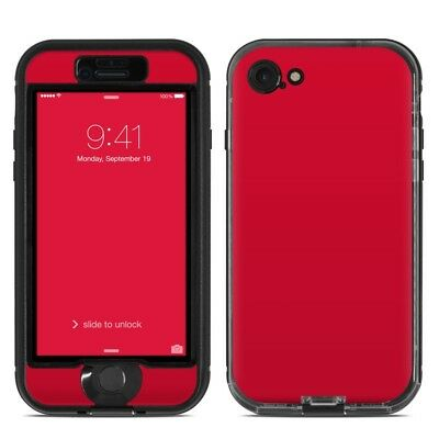 Skin for LifeProof NUUD iPhone 7 - Solid Red - Sticker Decal