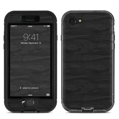 Skin for LifeProof NUUD iPhone 7 - Black Woodgrain - Sticker Decal