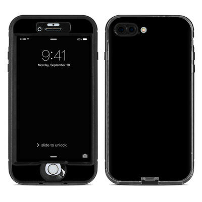 Skin for LifeProof NUUD iPhone 7 Plus - Solid Black - Sticker Decal