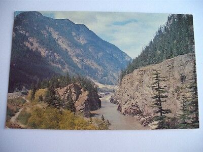The Fraser River Of Many Faces Near Yale Entrance To Canyon Bc Canada Postcard