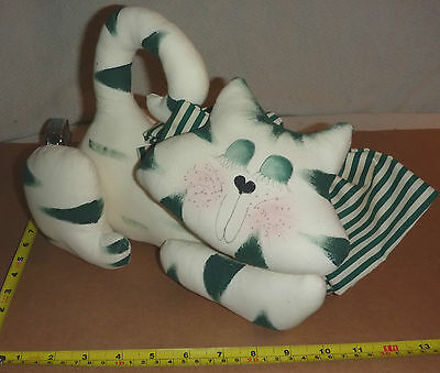 "Whimsical CAT PILLOW/Shelf Sitter [12 x 9 x 6""]  New w/Tags - Very NICE!"