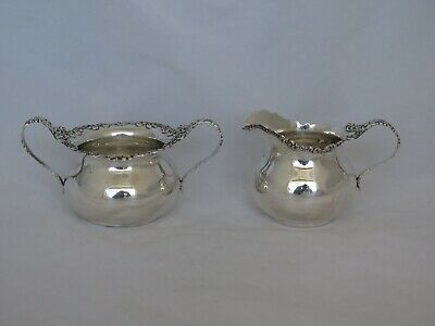 Wallace Sterling Waverly #330 Cream & Sugar Set