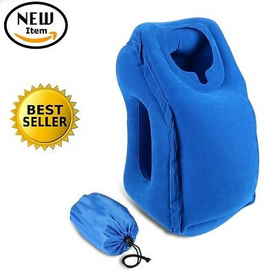 Brand New Hot Inflatable Luxury Travel Pillow Air Filled Airplane Cushion