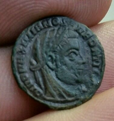 Maximian 285-310 AD. Minted by Constantine I The Great.  Rare type